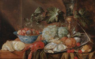 Jan van den Hecke I, Quaremonde 1620–1684 Antwerpen. Asetelma, öljy puulle, 42 x 54,5 cm, Kansallisgalleria. Kuva: Hannu Aalto